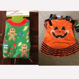BUNDLE DEAL! NWT Dog Costume & Sweater